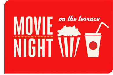 Movie night on the terrace for Movies at the terrace